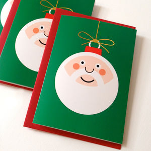 Cute Santa Christmas Cards - cards & wrap