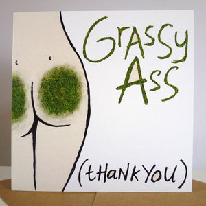 'Grassy Ass' Card - funny cards