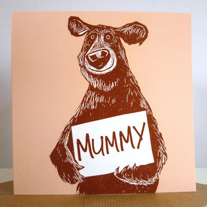 'Mummy Bear' Card - view all mother's day gifts