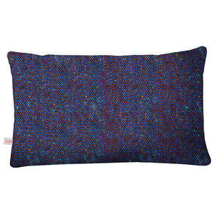 Blue Bute Tweed Cushion - decorative accessories