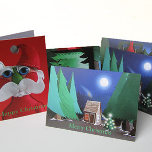 Five Pack Forest Inspired Christmas Cards - cards & invitations