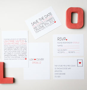 Typography Wedding Stationery