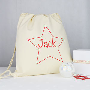 Personalised Star Drawstring Bag - gift bags & boxes