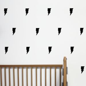 Mini Lightning Bolt Wall Stickers - decorative accessories