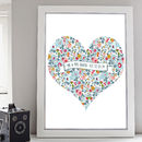 Mr And Mrs Heart Print