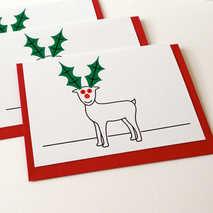 Reindeer Christmas Cards - cards