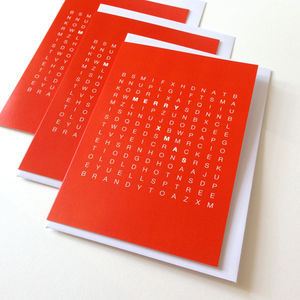 Word Search Christmas Cards