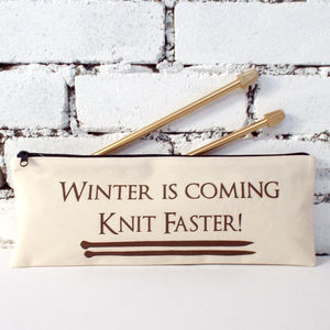 'Winter Is Coming' Knitting Needle Bag