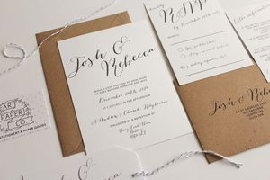 Elegant Calligraphy Wedding Invitation - invitations