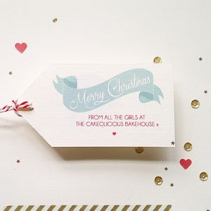 12 Personalised Christmas Gift Tags