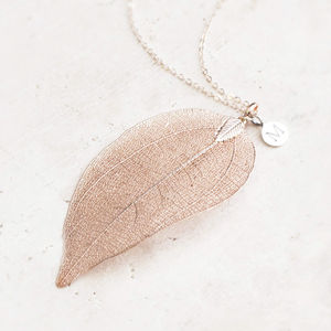 Elia Leaf Pendant Necklace - summer sale
