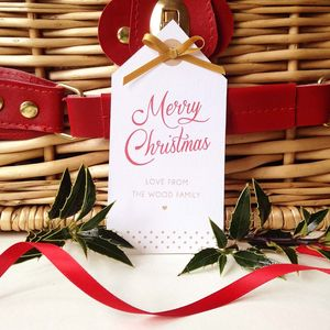 12 Personalised Merry Christmas Gift Tags - cards & wrap