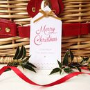 12 Personalised Merry Christmas Gift Tags