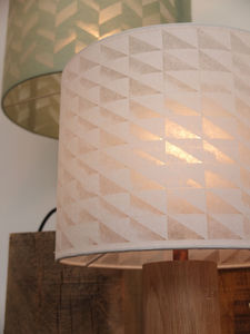 Geometric Triangles Paper Cut Lampshade