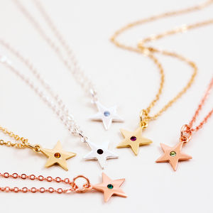 Little Star Birthstone Necklace - jewellery