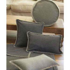 Felt Cushion Charcoal Grey
