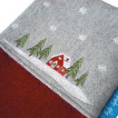 Winter Lodge Christmas Stocking Detail