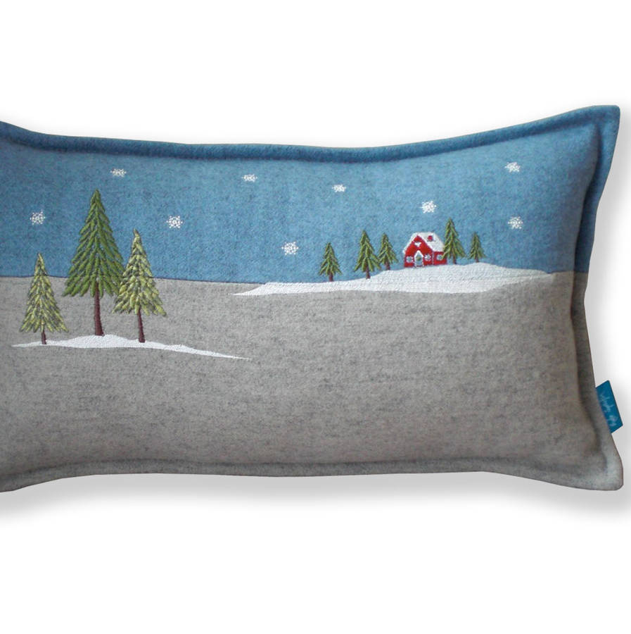 Winter Lodge Christmas Cushion