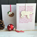 Clever Christmas Card With Tree Ornament