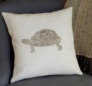 Tortoise Cushion - bedroom