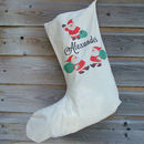 Vintage Santa Personalised Christmas Stocking