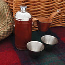 Round Hip Flask With Two Cups