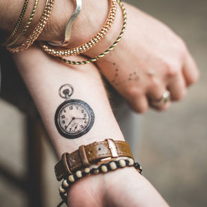 Vintage Style Objects Temporary Tattoo