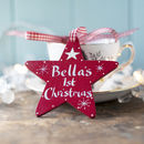 Personalised Baby's First Christmas Star