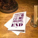 Personalised Everything Will Be Ok Greetings Card