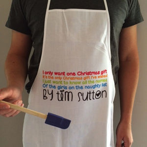 Mens Personalised Christmas Apron