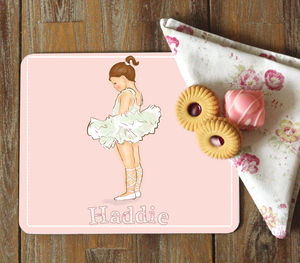 Pink Ballerina Coaster And Placemat 'Ballerina' - tableware