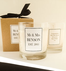 Personalised Mr And Mrs Candle