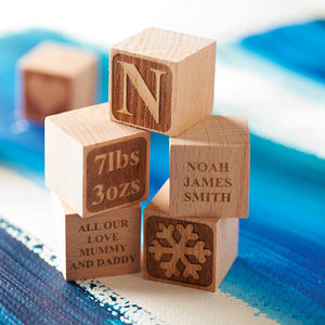Personalised Babys First Christmas Block - christmas