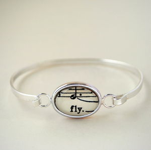 Fly Bangle Bracelet Naturally Heartfelt Words And Music