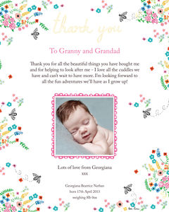 Personalised 'Beeautiful' Baby Thank You Print - shop by category