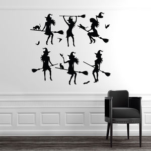 Halloween Witches Wall Stickers - party decorations