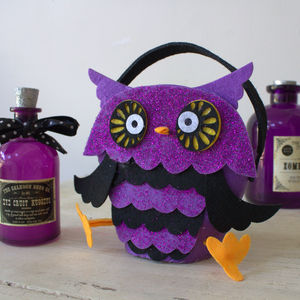 Halloween Trick Or Treat Owl Bag