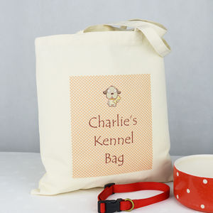 Personalised Pet Kennel Bag - pet food storage