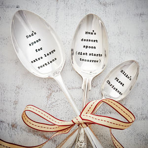 Personalised Christmas Silver Plated Vintage Spoon - kitchen