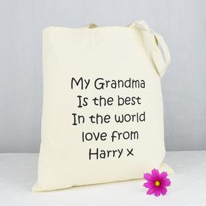 Personalised 'My Grandma' Shopping Bag - bags & purses