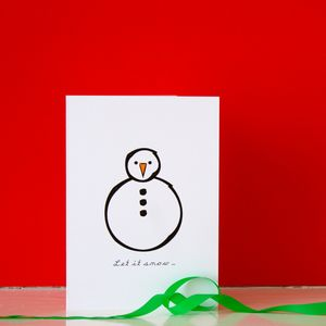 Let It Snow Christmas Card - cards & wrap