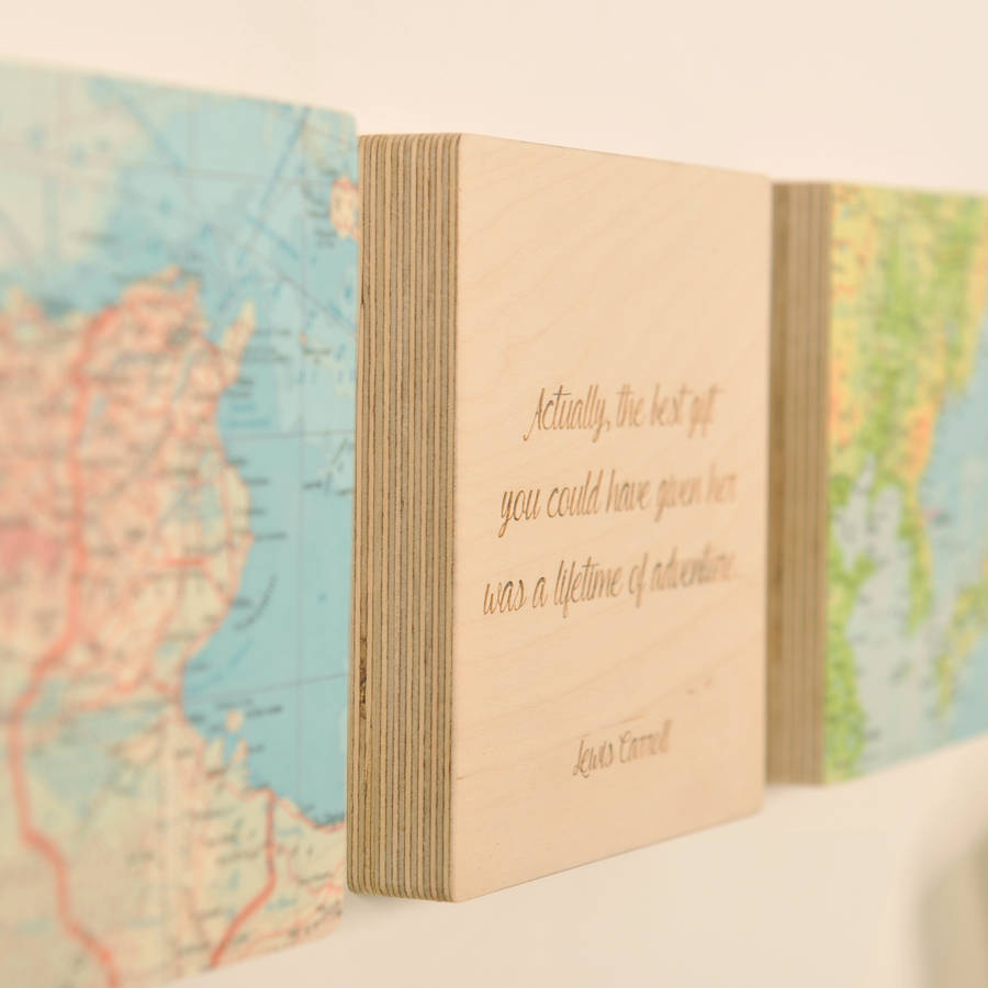three personalised map location block wall art by bombus ...