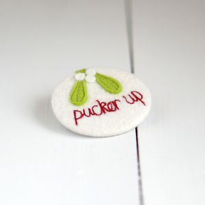 'Pucker Up' Badge - women's jewellery