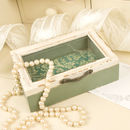 Vintage Green Jewellery Box