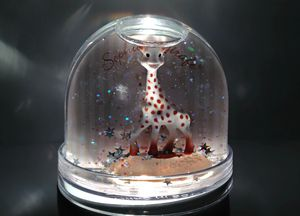 Babies First Christmas Photo Snow Globe