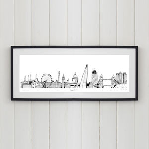 London Skyline Screen Print - architecture & buildings