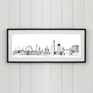 London Skyline Screen Print - posters & prints