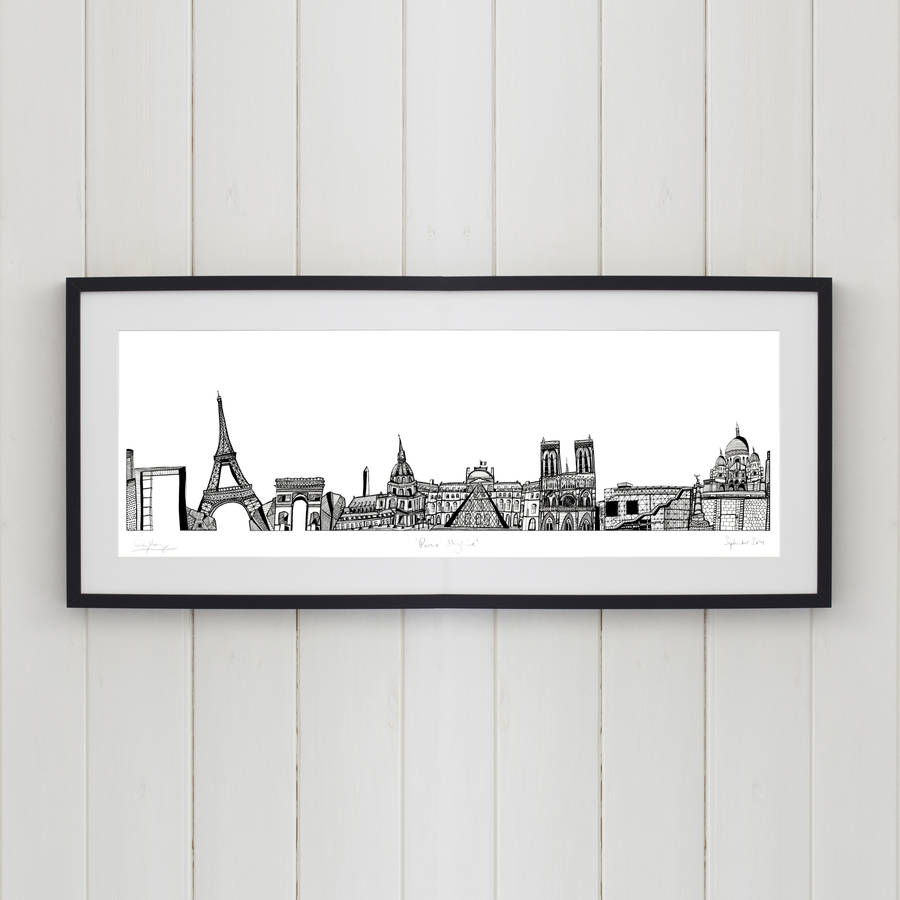 Paris Skyline Screen Print