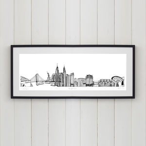 New York Skyline Screen Print - posters & prints
