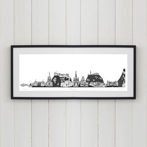 Edinburgh Skyline Screen Print - original art under £100